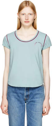 Marc Jacobs Blue 70s Cap Sleeve T-Shirt