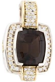 Lagos Two-Tone Quartz & Diamond Pendant