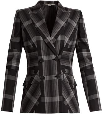 Multi-stripe silk-blend jacket