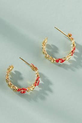Anthropologie Maui Lattice Mini Hoop Earrings