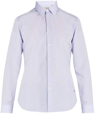 Burberry Logo-embroidered cotton-poplin shirt