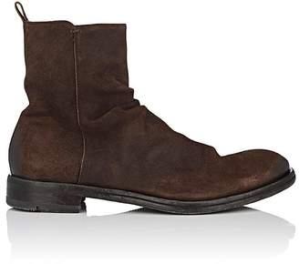 Elia Maurizi Men's Wrinkled-Vamp Suede Boots