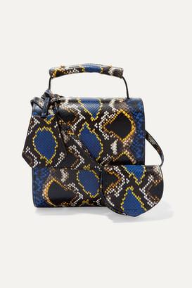 Marques Almeida Marques' Almeida - Snake-effect Leather Shoulder Bag - Blue