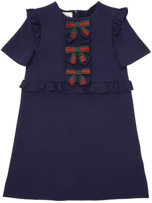 Gucci Milano Jersey A-Line Dress W/ Bows