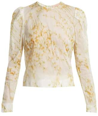 Brock Collection Babette Sweet Pea Print Blouse - Womens - White Print