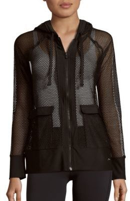 Honeycomb Mesh Hooded Jacket $84 thestylecure.com