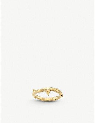 Shaun Leane Rose Thorn yellow-gold vermeil ring