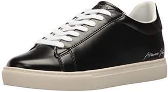 Armani Jeans Men's Low Cut Script Fashion Sneaker