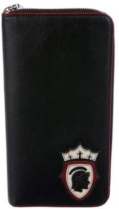 Prada Saffiano Travel Zip-Around Wallet