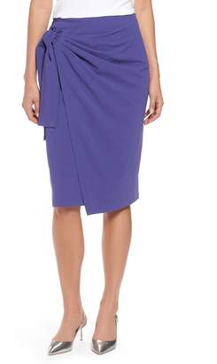 Halogen Side Tie Pencil Skirt (Regular & Petite)