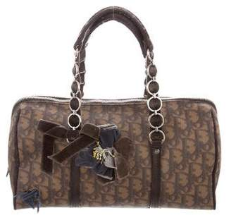 Christian Dior Diorissimo Leather-Trimmed Handle Bag