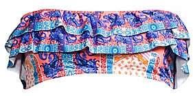 OndadeMar Women's Dreambay Tillandsia Ruffled Bandeau Top