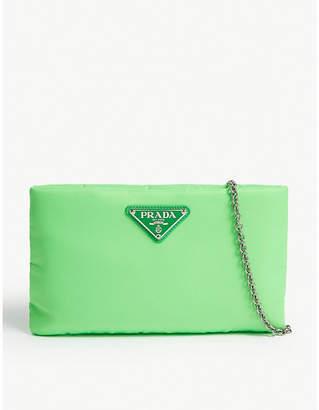 Prada Triangle plaque pouch