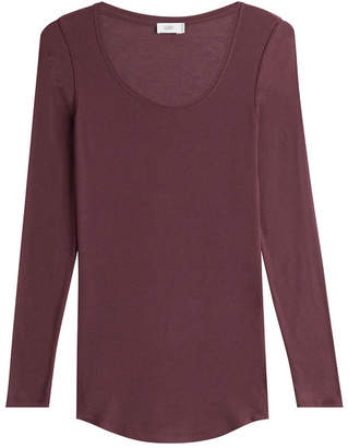 Closed Jersey Top with Cashmere