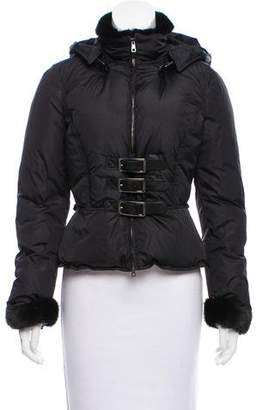 Valentino Fur-Trimmed Puffer Jacket