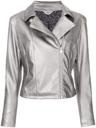 Liu Jo metallic biker jacket