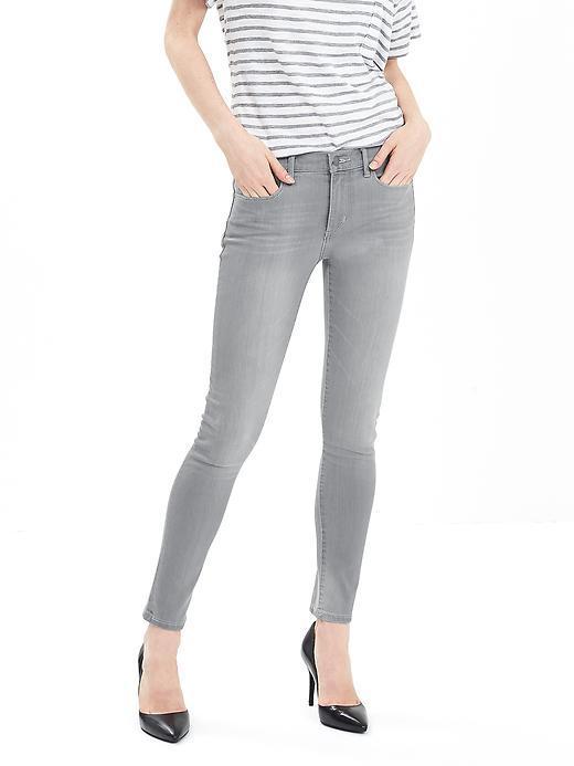 Gray Skinny Ankle Jean