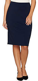 Dennis Basso Ponte Knit Pencil Skirt