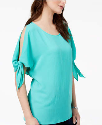 Michael Kors Split-Sleeve Top,