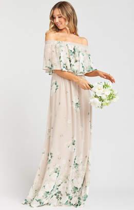 Show Me Your Mumu Hacienda Maxi Dress ~ Bouquet Toss Chiffon