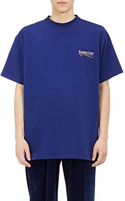 Balenciaga Men's Logo Jersey T-Shirt $295 thestylecure.com