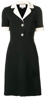 Gucci contrast trim jersey dress