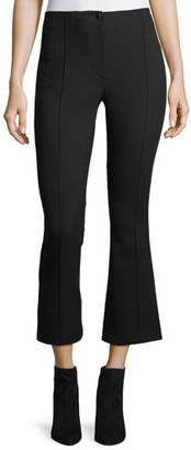 Helmut Lang Cropped Mid-Rise Flared Wool Pants