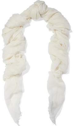 Rick Owens Mega Follo Cashmere And Silk-Blend Gauze Scarf