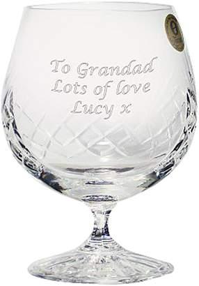 Very Personalised Crystal Brandy Glass