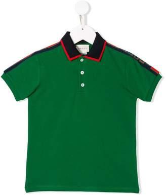 Gucci Kids branded polo shirt