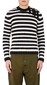 Loewe Men's Fringe Striped Wool-Alpaca Sweater