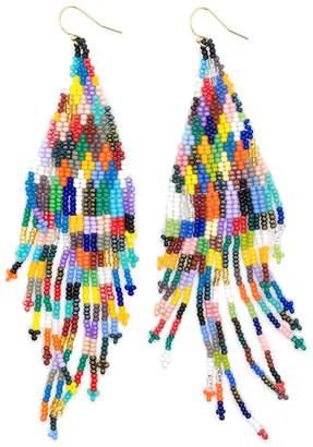 Casa Clara Beaded Fringe Earrings