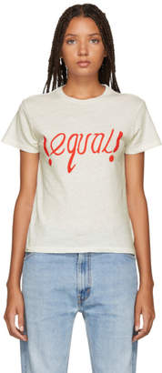 RE/DONE White Equal T-Shirt