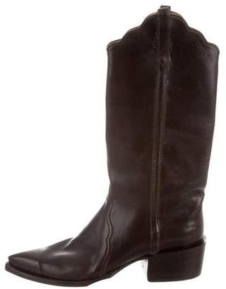 Lucchese Knee-High Cowboy Boots