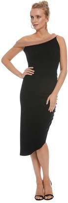 Rachel Pally Luxe Rib Two-Tone Stella Dress - Black