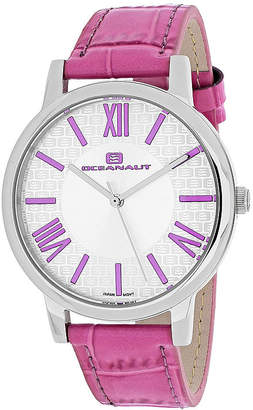 Oceanaut Moon Womens White Dial and Pink Leather Strap Watch