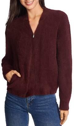 1 STATE 1.STATE Eyelash-Knit Zip Cardigan