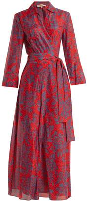 DIANE VON FURSTENBERG Callow-print cotton-blend wrap dress
