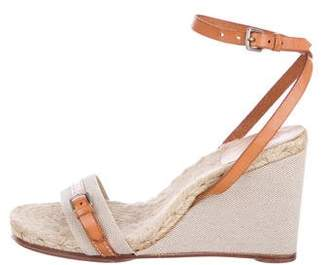 Hermes Ankle-Strap Wedge Sandals