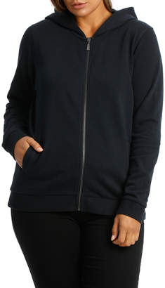 Spot Fleece Hooded Long Sleeve Sweat Top