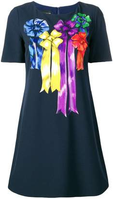 Moschino ribbon print T-shirt dress