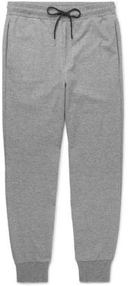 Theory Essential Slim-Fit Tapered Melange Stretch-Knit Sweatpants - Men - Gray
