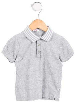 Il Gufo Girls' Stripe-Trimmed Polo Top