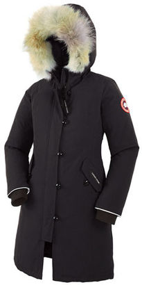 Canada Goose Youth Brittania Parka with Removable Fur Trim, XS-XL $575 thestylecure.com