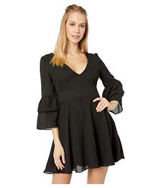 BB Dakota Junior's Always Classy CDC Tiered Ruffle Sleve Dress