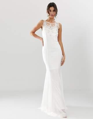 City Goddess bridal fishtail maxi dress with embellished detail