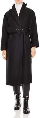 Sandro Triste Belted Coat