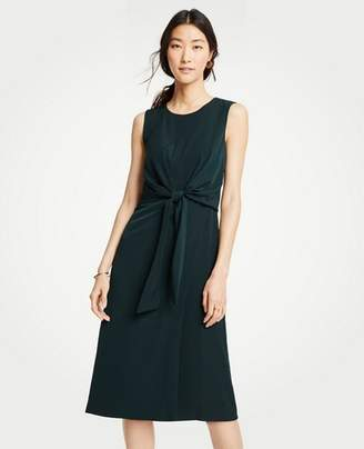 Ann Taylor Tie Front Midi Dress