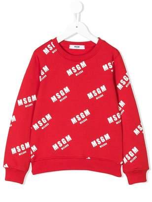 MSGM Kids monogram printed sweatshirt
