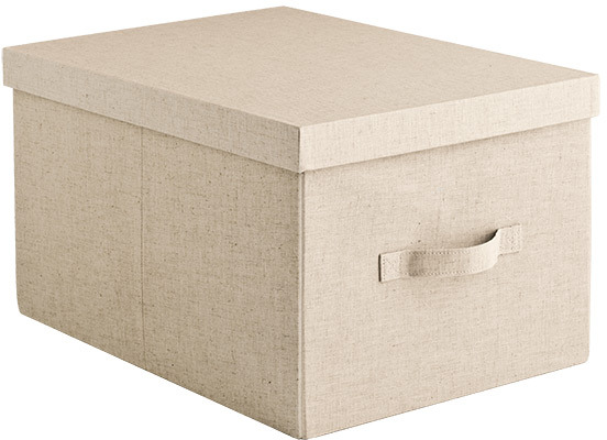 Container Store Large Linen Box